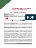 Programa del curso de verano de IU en San Lorenzo de El Escorial (PDF)