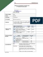 BEM3014 Econometric Modelling Course Plan Trimester 2, 201415