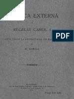 Nicolae Iorga Politica Externă a Regelui Carol I