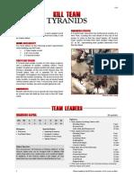 Kill Team List - Tyranids v2.1