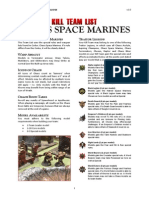 Kill Team List - Chaos Space Marines v3.0