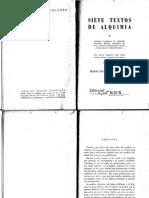 Siete Textos de Alquimia - Autores Varios - Version en Español de Mario Martinez de Arroyo