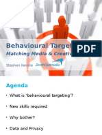Behavioural Targeting - Stephen Neville