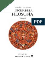 Historia de la Filosofía Volumen 2