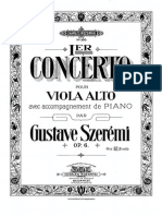 Szeremi, Viola Concerto Op6 Piano Part