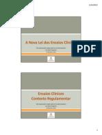 2015 02 19 Legislação Ensaios Clínicos PG Direito Medicamento