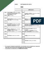 Calendario de Exámenes de Septiembre - Curso 2014-15