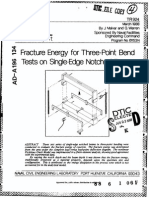 Fracture Energy for three-point bend tests on single edge notched beams