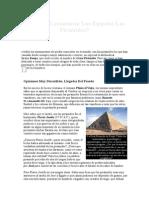 Por Qué Levantaron Los Egipcios Las Pirámides
