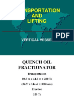 Transporting fractionator by trailers and setting by cranes.pdf