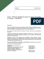 NCh00701-1971 Planchas Deolgadas de Acero Al Carbono Laminado en Caliente- Tolerancias