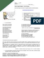 prova 1 ano variedades linguisticas.doc