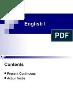 English I - Present Continous