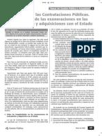 La Falacia en La Contratación Pública (Exoneraciones)