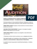 DREAMING ACADEMY  ACCADEMIA DI MUSICAL E SPETTACOLO.doc