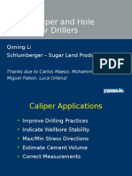 LWD Caliper and Hole Shape for Drillers