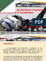 Investigacion de Factores Humanos en Accidentes Aeronauticos