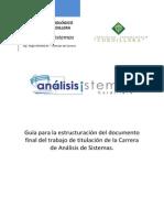 Documento de Trabajo de Titulación de La Carrera de Análisis de Sistemas