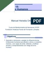 Modulo 15 Factores Humanos en Mantenimiento Aeronaves