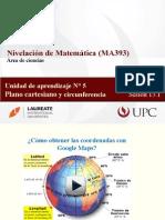 MA393 2015-1 Sesion 13.1. Plano Cartesiano. Circunferencia