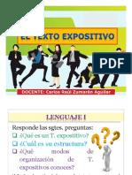 texto expositivo es un tipo de texto el cual se usar mayormente para exponer de algun texto del cual se hable