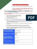 Emergency Welfare Form
