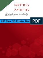 UP Plus 3D Printer Manual