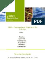 Gestão Ambiental - apresentação