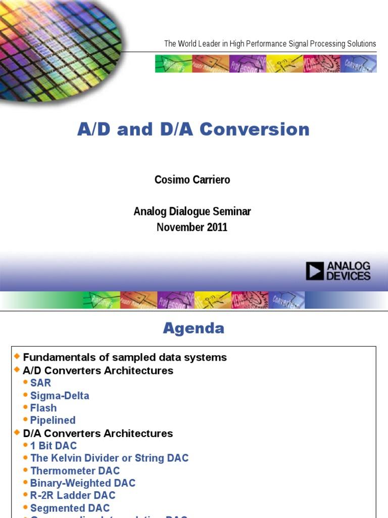 Converters Analog To Digital Converter Cmos Integrated Analogtodigital And Digitaltoanalog
