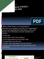 Organizational Role Stress