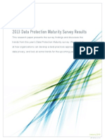 2013 Data Protection Maturity Survey Results