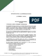 Notas Explicativas de Caracter General a Dic 31 2014