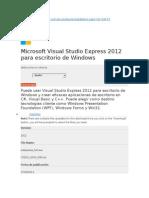 Visula Studio Express Para Crear Aplicaciones
