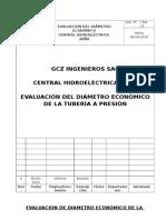 Ch Zaña-evaluacion de Diametro Economico