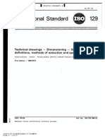 ISO 129 Technical Drawing-dimensioning-general Principle