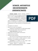 Substanţe Antiseptice Şi Decontaminante