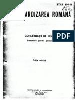 STAS 00856-1971 Proiectare Constructii Lemn