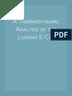 A Thermodynamic Analysis of the Lugano E-Cat