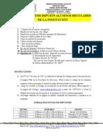 Proceso de Inscripción Alumnos Regulares