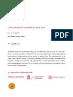 Law and Logic Summer School 2015 Final Program