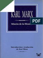 Miseria de La Filosofia (Jose Mesa)