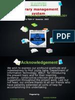 J2EE Based Library Management System Presentation