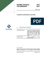 Ntc 5541 - Concretos Reforzados Con Fibra