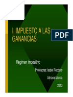 Imp a Las Ganancias regimen impositivo