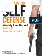 2015 #26 Self Defense Weekly Law Report