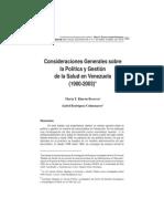 Consideraciones Generales Sobre Salud 1900 2003