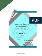 Manual do usuário do aparelho de urodinâmica Dynapack MPX816 da Dynamed