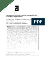 36817821. Management Framework Guiding Strategic Thinking