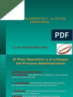 1.- El Plan Operativo y La Accion Empresarial