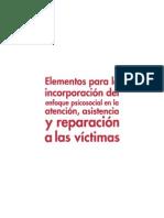 Elementos Enfoque Psicosocial en La Atencion,Asistencia y Reparaión a Las Víctimas